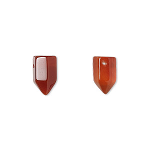 bead, red agate (dyed / heated), 12x6mm hand-cut point, b grade, mohs hardness 6-1/2 to 7. sold per pkg of 2.