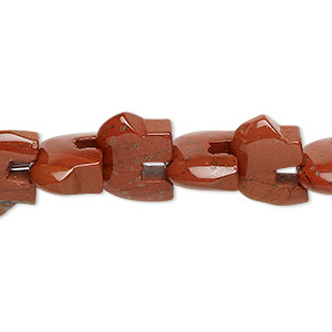 bead, red jasper (natural), 13x10mm zuni-style bear with 0.5-1.5mm hole, b grade, mohs hardness 6-1/2 to 7. sold per 8-inch strand.