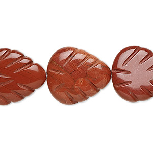 bead, red jasper (natural), 20x18mm shell, b grade, mohs hardness 6-1/2 to 7. sold per 16-inch strand.