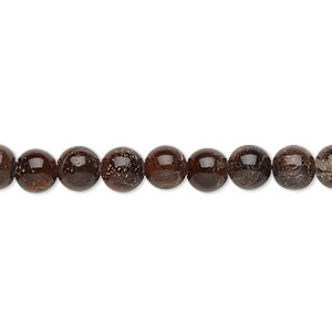 bead, red tigereye (heated), 6-7mm round, c- grade, mohs hardness 7. sold per 15-inch strand.