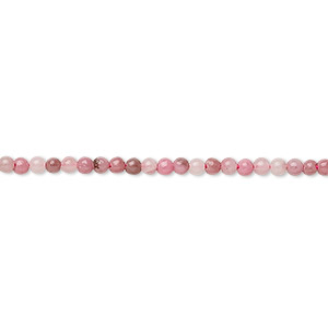 bead, rhodonite (natural), 2mm round, b grade, mohs hardness 5-1/2 to 6-1/2. sold per 16-inch strand.