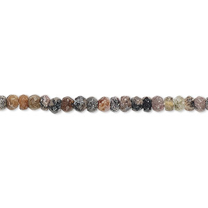 bead, rhodonite (natural), 3x2mm-4x3mm hand-cut faceted rondelle, f grade, mohs hardness 5-1/2 to 6-1/2. sold per 12-inch strand.