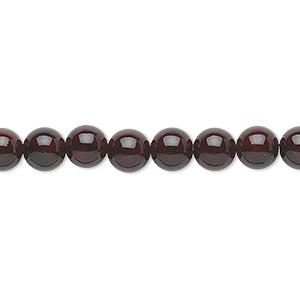 bead, riverstone (dyed), dark red, 6mm round, b grade, mohs hardness 3-1/2. sold per pkg of (2) 16-inch strands.