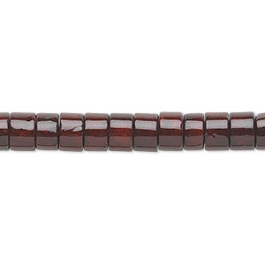 bead, riverstone (dyed), dark red, 6x4mm rondelle, b grade, mohs hardness 3-1/2. sold per 16-inch strand.