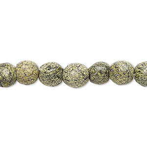 bead, russian serpentine (natural), 8-9mm faceted round, b grade, mohs hardness 2-1/2 to 6. sold per 15-inch strand.