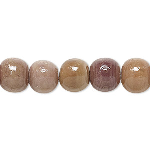 bead, sea urchin shell (natural), 9-11mm round. sold per 16-inch strand.