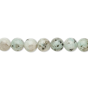 bead, sesame jasper (natural), opaque to semitranslucent, 8mm round, b grade, mohs hardness 6-1/2 to 7. sold per 16-inch strand.