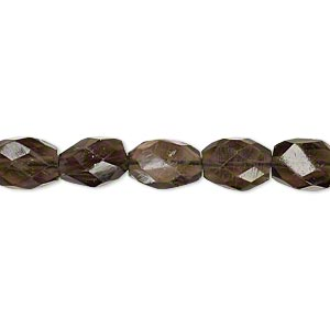 bead, smoky quartz (heated / irradiated), 8x6mm hand-cut faceted oval, b- grade, mohs hardness 7. sold per 16-inch strand.