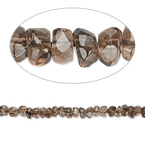 bead, smoky quartz (heated / irradiated), medium to dark, 3x2mm-4x3mm hand-cut tumbled faceted rondelle, c grade, mohs hardness 7. sold per 13-inch strand.
