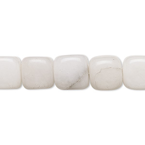 bead, snow quartz (natural), 10-11mm tumbled cube, c+ grade, mohs hardness 7. sold per 15-inch strand.