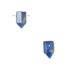 bead, sodalite (natural), 12x6mm hand-cut point, b grade, mohs hardness 5 to 6. sold per pkg of 2.