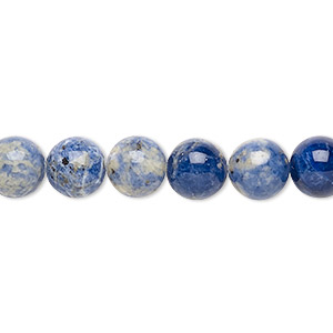bead, sodalite (natural), 8mm round, b grade, mohs hardness 5 to 6. sold per 16-inch strand.