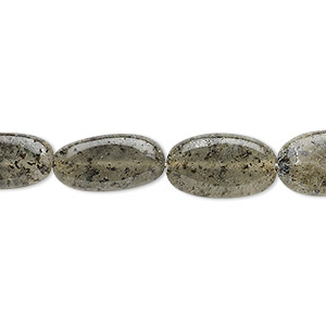 bead, spotted quartz (natural), 10x6mm-18x9mm hand-cut flat oval, b- grade, mohs hardness 7. sold per 13-inch strand.