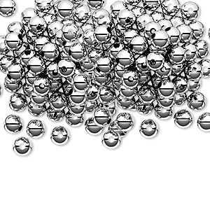 bead, sterling silver, 4mm seamless-look round. sold per pkg of 100.