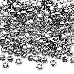 bead, sterling silver, 4mm seamless-look round. sold per pkg of 1,000.