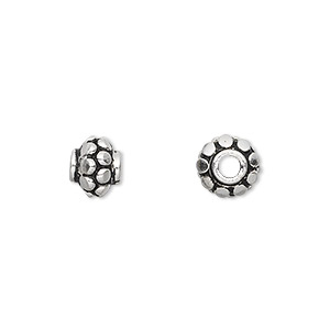 bead, sterling silver, 8mm round with bumps. sold per pkg of 4.