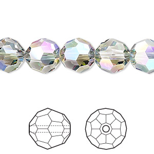 bead, swarovski crystals, crystal paradise shine, 10mm faceted round (5000). sold per pkg of 144 (1 gross).