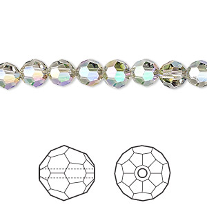 bead, swarovski crystals, crystal paradise shine, 6mm faceted round (5000). sold per pkg of 360.