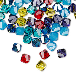 bead, swarovski crystals, crystal passions, candy, 6mm xilion bicone (5328). sold per pkg of 144 (1 gross).