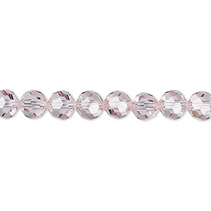 bead, swarovski crystals, crystal passions, cantaloupe, 6mm faceted round (5000). sold per pkg of 12.