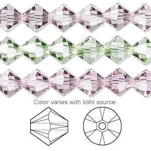 bead, swarovski crystals, crystal passions, cantaloupe, 8mm faceted bicone (5301). sold per pkg of 72.