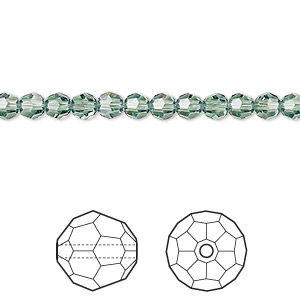 bead, swarovski crystals, crystal passions, erinite, 4mm faceted round (5000). sold per pkg of 12.