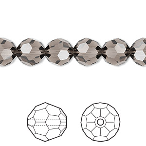 bead, swarovski crystals, crystal passions, greige, 8mm faceted round (5000). sold per pkg of 288 (2 gross).