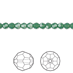 bead, swarovski crystals, crystal passions, palace green opal, 4mm faceted round (5000). sold per pkg of 12.