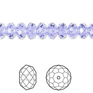 bead, swarovski crystals, crystal passions, provence lavender, 8x6mm faceted rondelle (5040). sold per pkg of 12.