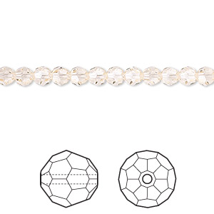 bead, swarovski crystals, crystal passions, silk, 4mm faceted round (5000). sold per pkg of 12.