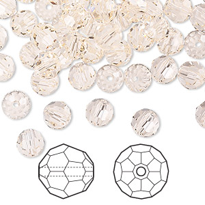 bead, swarovski crystals, crystal passions, silk, 6mm faceted round (5000). sold per pkg of 144 (1 gross).