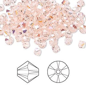 bead, swarovski crystals, crystal passions, silk ab, 4mm xilion bicone (5328). sold per pkg of 48.