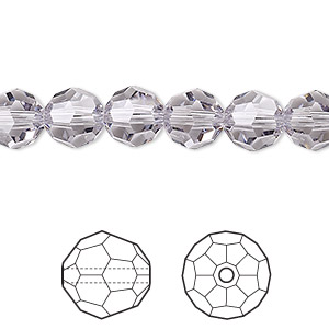 bead, swarovski crystals, crystal passions, smoky mauve, 8mm faceted round (5000). sold per pkg of 12.