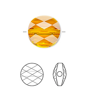 bead, swarovski crystals, crystal passions, tangerine, 8mm faceted mini round (5052). sold per pkg of 24.