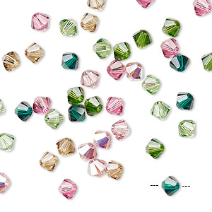 bead, swarovski crystals, crystal passions, tourmaline, 4mm xilion bicone (5328). sold per pkg 48.