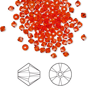 bead, swarovski crystals, hyacinth, 3mm xilion bicone (5328). sold per pkg of 1,440 (10 gross).