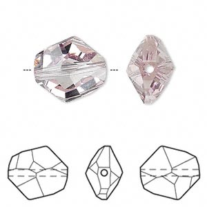 bead, swarovski crystals, light amethyst, 16x14mm faceted cosmic (5523). sold per pkg of 24.