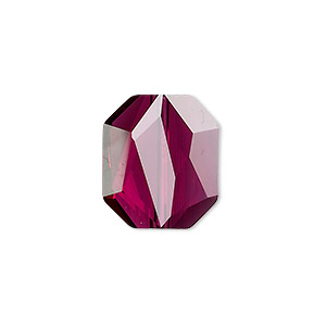bead, swarovski crystals, ruby, 18x15mm faceted graphic (5520). sold per pkg of 72.