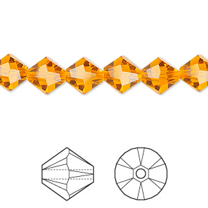 bead, swarovski crystals, sun, 8mm faceted bicone (5301). sold per pkg of 288 (2 gross).