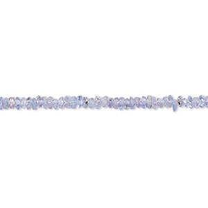 bead, tanzanite (heated), mini hand-cut chip, mohs hardness 6 to 7. sold per 13-inch strand.
