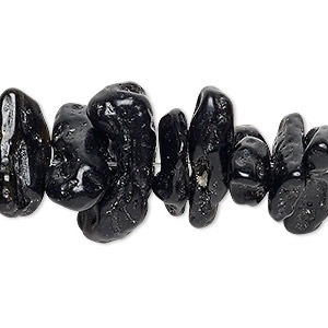 bead, tektite (waxed), extra-large chip, mohs hardness 5 to 5-1/2. sold per 15-inch strand.