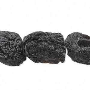 bead, tektite (waxed), medium to large nugget, mohs hardness 5 to 5-1/2. sold per 15-inch strand.