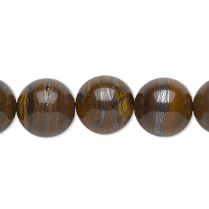 bead, tiger iron (natural), 12mm round, b grade, mohs hardness 7. sold per 16-inch strand.