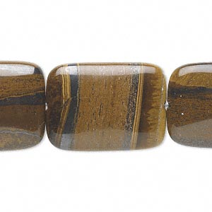 bead, tiger iron (natural), 25x18mm rectangle, b grade, mohs hardness 7. sold per 16-inch strand.