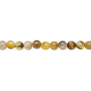bead, tigereye (natural), 4-5mm round, d grade, mohs hardness 7. sold per 15-inch strand.