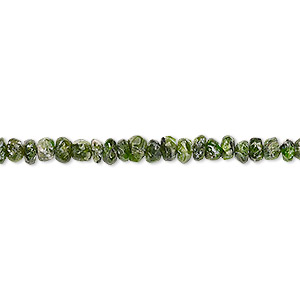bead, vesuvianite (natural), 3x2mm-5x3mm hand-cut faceted rondelle, c- grade, mohs hardness 6-1/2. sold per 7-inch strand.