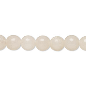 bead, white italian onyx (coated), 7-8mm round, b- grade, mohs hardness 3. sold per 15-inch strand.