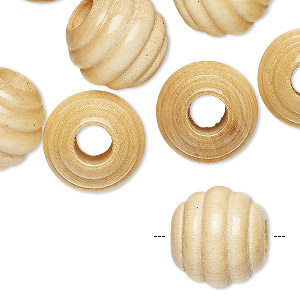 bead, wood (coated), 15mm carved round. sold per pkg of 24.