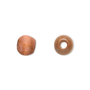 bead, wood (coated), brown, 10x8mm hand-cut rondelle. sold per pkg of 450-500.