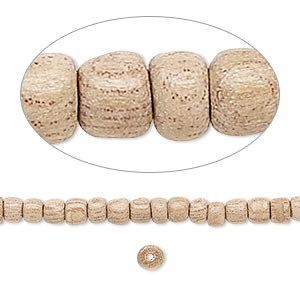 bead, wood (waxed), 3x3mm hand-cut rondelle. sold per 16-inch strand.